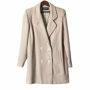 Applause Wool Blend Cream Colored Coat